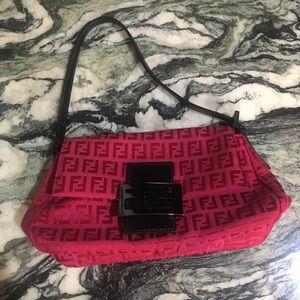 Fendi Zucca Borsa Mini Mamma Handbag in Red